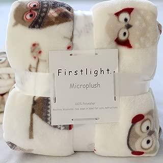 UE STORE Soft Microplush Owl Blanket Baby Blanket 127 X 178CM