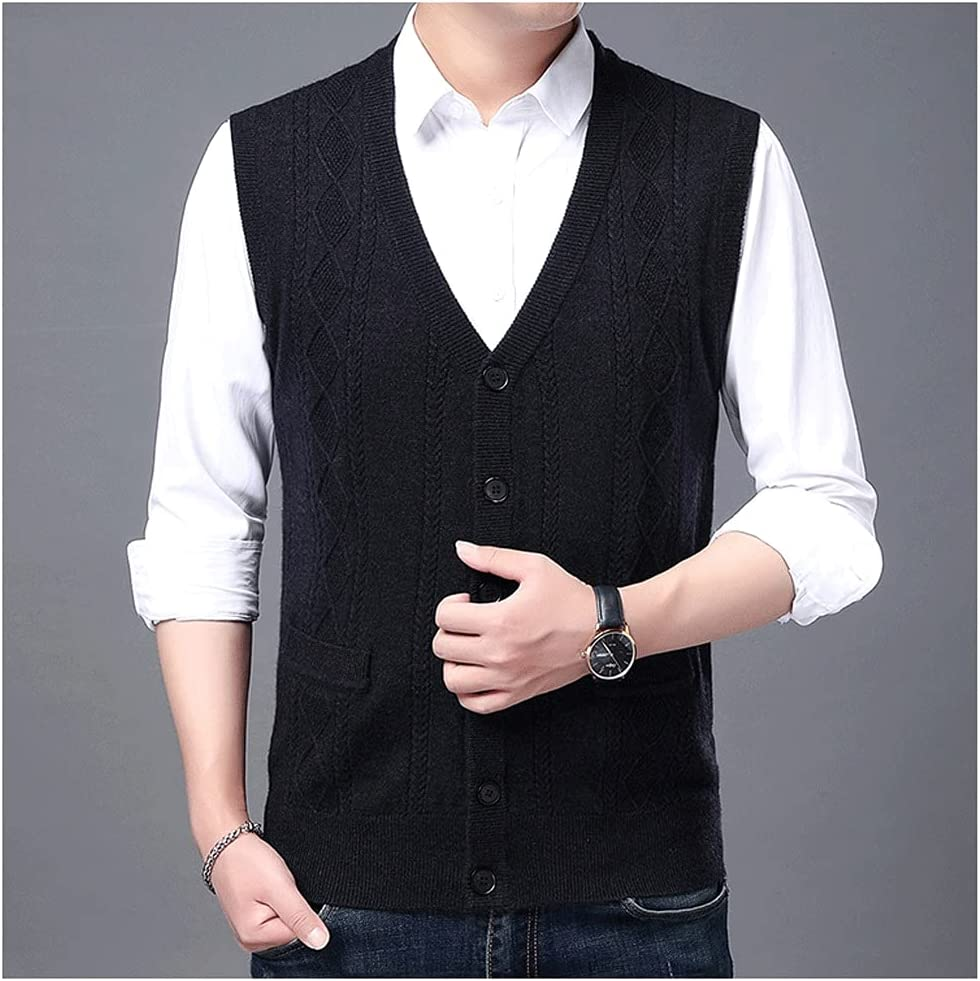 HLDETH Autum Winter Sweater Vest Korean Ca Direct stock free shipping discount Knit Cable Men Woolen
