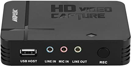 AGPTEK Game Capture HD - Capturadora para Grabar, Compartir y Reproducir partidas de Xbox/Playstation (H.264, USB 2.0, HDMI/YPBPR, Mic-In)