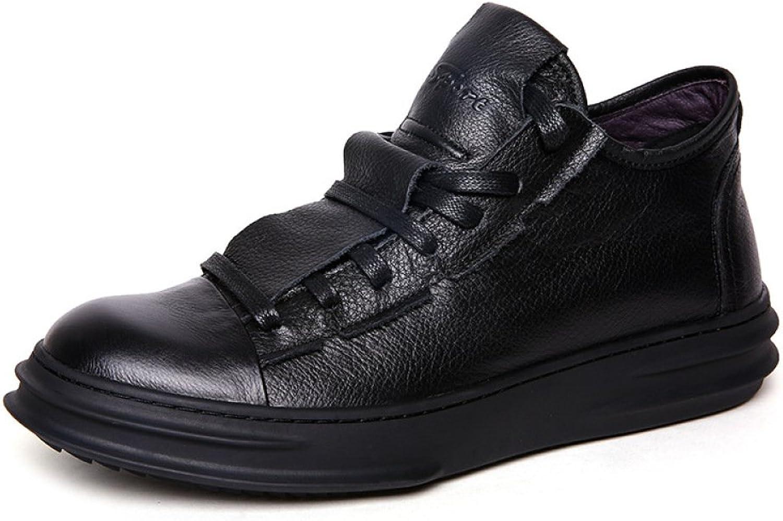 SBL Autumn big sneakers men's casual shoes trend men's shoes leather top layer leather casual shoes men