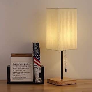 Bedside Table Lamp Nightstand Table Lamp Minimalist Desk Lamp with Fabric Shade Modern Nightstand Lamp for Bedroom Living Room Dorm