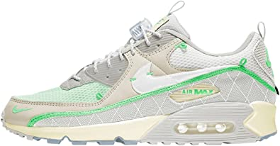 Nike Mens Air Max 90 'Sail Neon Green' Running Shoe
