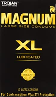Trojan Magnum XL Size Lubricated Latex Condoms - 12 ct, Pack of 5