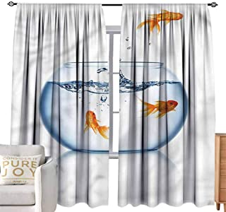 Andrea Sam Thermal Insulated Blackout Window Curtain Aquarium,Freedom Escape Challenge Room Darkening,W108 x L84 inch