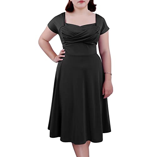 Fifties Plus Size Dresses: Amazon.co.uk