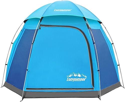 100% garantía genuina de contador YJWOZ Hex Muchas Personas Anti-tormenta de aleación aleación aleación de Aluminio 4 a 6 Personas Camping Tent Camping Cuenta Tienda (Color    2)  protección post-venta