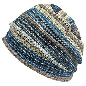 CHARM MESH サマーニット帽 [ フリーサイズ/ブルー ] デザインワッチ 帽子