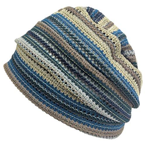 Casualbox Hommes Femmes Bonnet Chapeau Japonais Unisexe Bleu