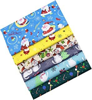KESYOO 6Pcs Tecido de Algodão de Natal Patchwork Tecido de Algodão Acolchoado Tecido Diy Artesanato Pano de Patchwork para...