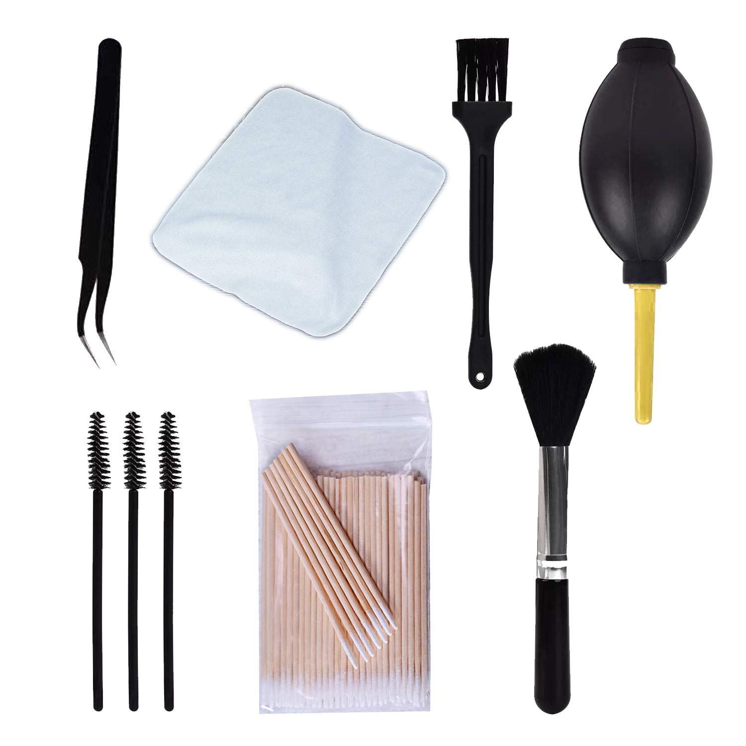 108 Pcs Cleaning Kits for Airpods, Phone Jack Charger Port Hole Cleaner Speaker Kit Professional Cleaner Tool Screen Cleaner for Cameras Keyboards Headphones