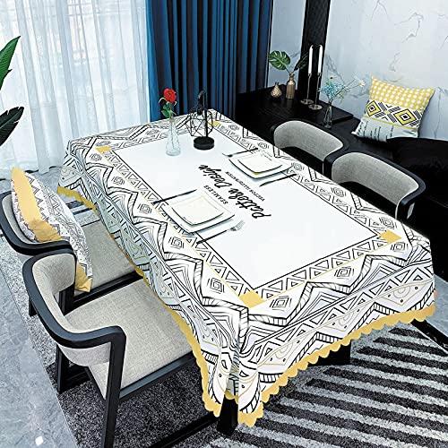 sans_marque Mantel de mesa, cubierta de mesa, adecuado para mesa de buffet, fiesta, cena de vacaciones, celebración de boda mantel120 x 180 cm