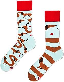 Sausagedog Calcetines multicolores con motivo de perro salchicha, perro, mascota, animal, amigo