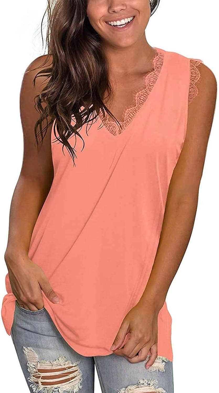 Jiayit Plus Size Tank Shirts Women Basic Tee Camis V Neck Long Workout Tank Tops Summer Casual Sleeveless Sexy BlouseTops