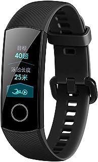 Sairis Soporte para Monitor de Ritmo cardíaco Huawei Honor Band 4 Smart Wristband 2.5D con Pantalla táctil Android y iOS-Negro