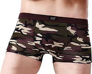 Bigood Men's Camouflage Underwear Modal Cotton Boxer Briefs Shorts Trunks