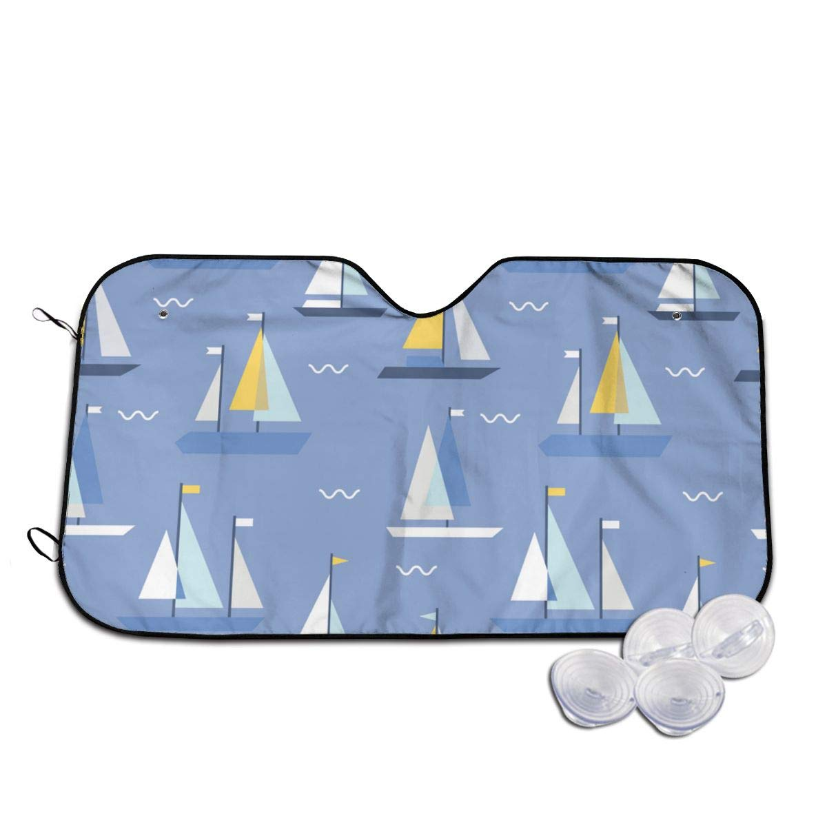 Geometric Sailing Boats Windshields online shopping Sun 3D La New products world's highest quality popular Long Printed Shade