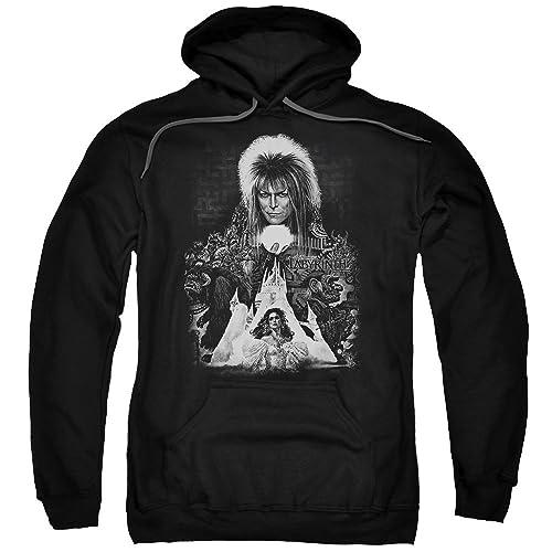 f008be88d18 Labyrinth 1980 s Movie David Bowie Castle Sarah Jareth Adult Pull-Over  Hoodie Black