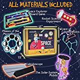 jackinthebox Space Educational Stem Toy | Includes 6 Fun Projects That Range from Arts and Crafts to Science | Ideal Space Gift for Boys and Girls Aged 7,8,9,10 Year Old