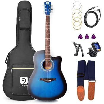 Vangoa Guitarra Electro Acústica, 41 Pulgadas Guitarra Eléctrica ...