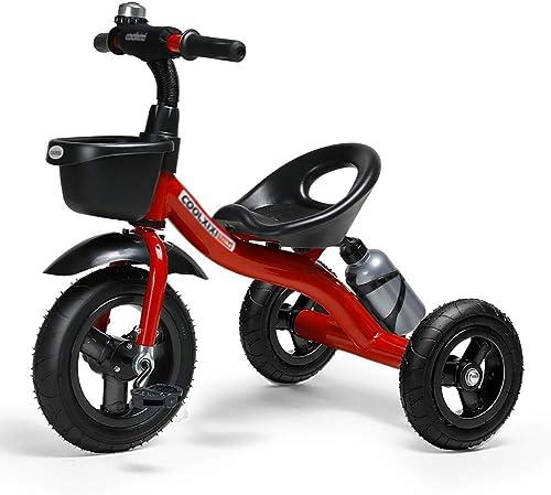 LIAN Kinder Dreiradfahrer Trike Kinder Baby Fahrrad Mitfahrrad, 2-5 Jahre alt (Farbe   Rot)