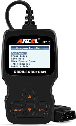ANCEL AD310 Classic Enhanced OBD II Scanner Car Engine Fault Code Reader CAN Diagnostic Scan Tool-Black
