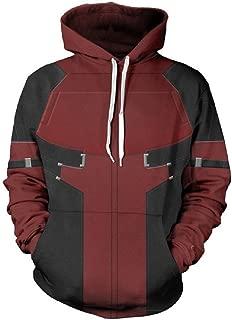 Superhero DP Cosplay Hoodie 3D Pullover/Zip Up Sweatshirt Unisex Hooded Coat