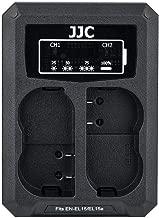 JJC EN-EL15 Battery Charger USB Dual Slot for Nikon Z6 Z7 D850 D750 D610 D600 D500 D7500 D7200 D7100 D7000 D810A D810 D800E D800 Cameras