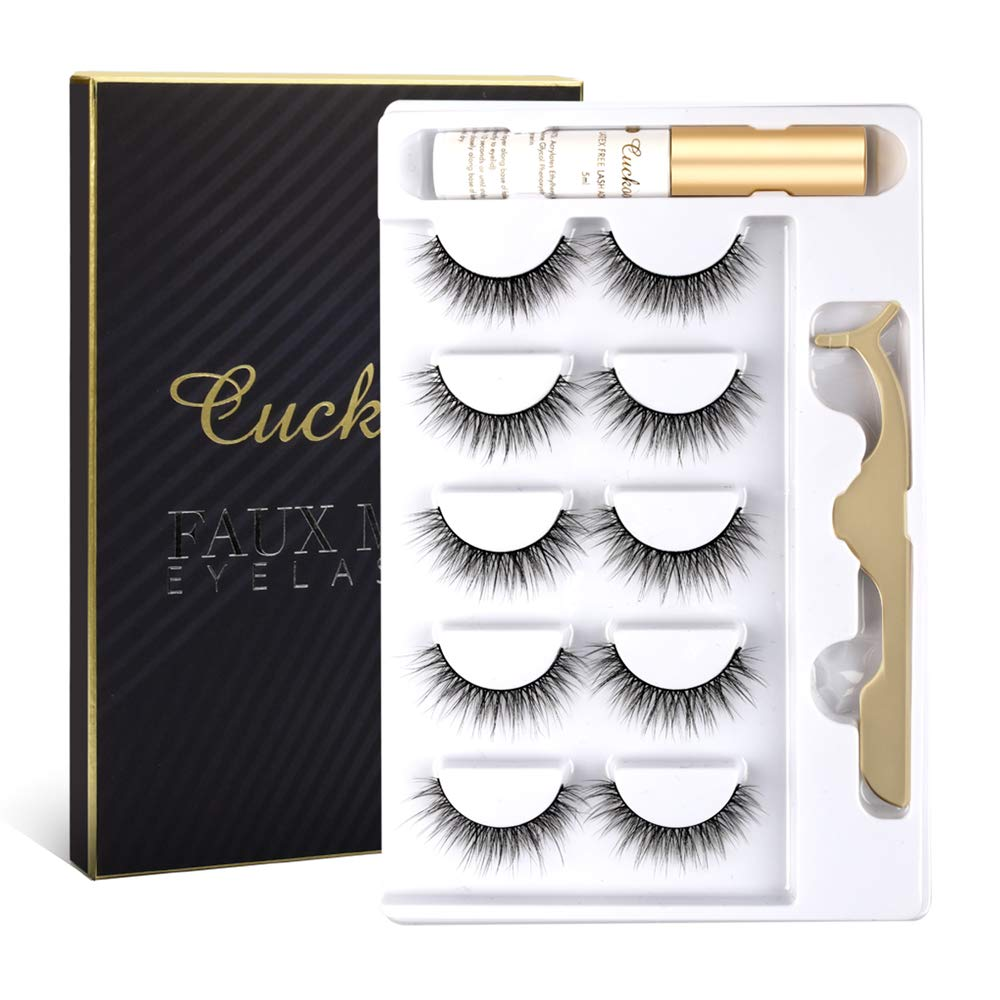 Cuckoo Eyelashes Lashes Pack 5 Pairs with New Free Shipping Mink Faux 3D Max 71% OFF