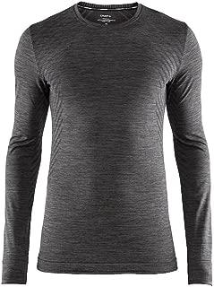 Craft Sportswear Men's Fuseknit Comfort Roundneck Long Sleeve Base Layer Wicking Shirt
