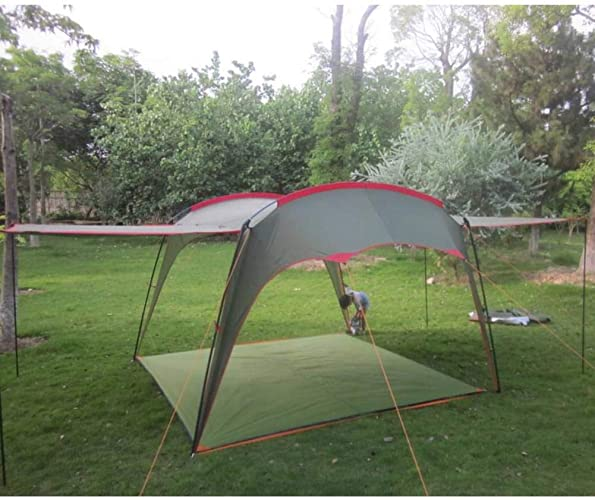 ZZPEO Tente De Camping Imperméable Anti-UV Ultralarge De Style 4-8 Personnes Grand Gazebo