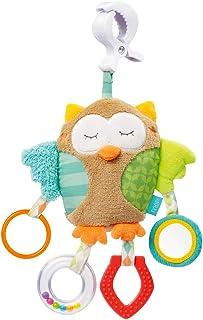 Fehn 071160 Activity-Spieltier Eule – Motorikspielzeug zum Aufhängen – Für Babys und Kleinkinder ab 0 Monaten – Maße: 25 cm