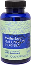 Motherlove - Malunggay (Moringa), Nutrient-Dense Herbal Breastfeeding Supplement for Nursing and Pumping Moms, Potent Lactation Support for Milk Supply, Alcohol-Free Vegan Liquid Capsules, 120 Count