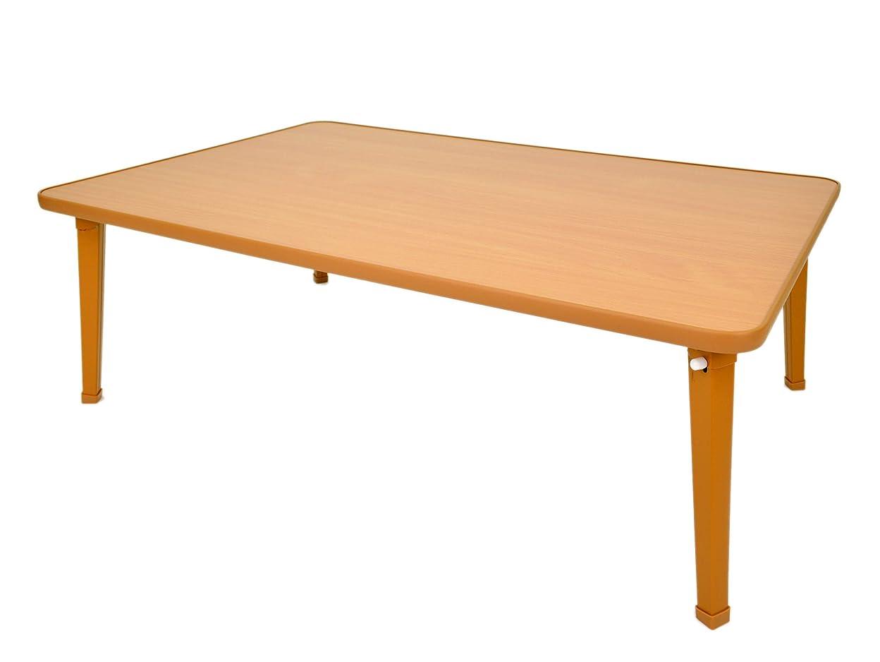 メロディアス頑張る占めるミツワ ナチュラル 90×60cm 日本製 折りたたみ式 ローテーブル パレットテーブル PA-90 NA