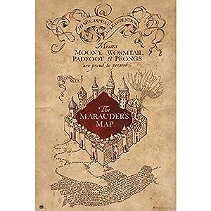 Grupo Erik Poster con diseño Harry Potter The Marauders Map, Solo 4