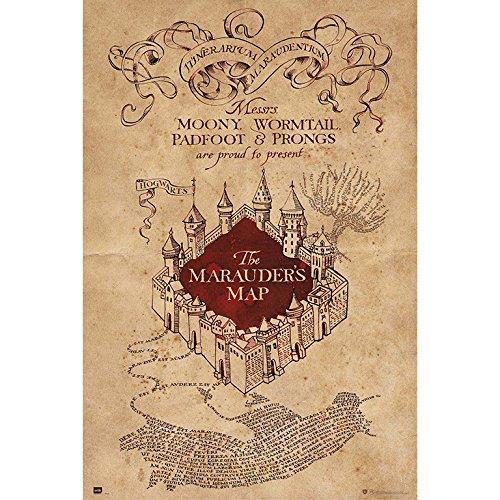 Grupo Erik Poster con diseño Harry Potter The Marauders Map, Solo