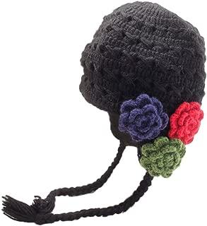 Adult Crochet 3 Flowers Earflap