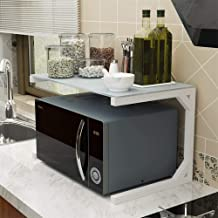 HLJ Tallero de horno de microondas, parrilla de cocina en horno, marco de acero de metal de carbono de vidrio templado, A-60 cm (Color : C, Size : 60cm)