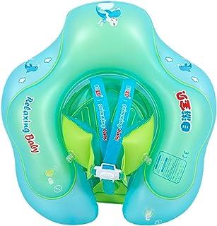 LIOOBO Flotador de Anillo de natación para bebés con Asiento de 1 a 6 años niños pequeños tamaño Inflable XL baño Playa Piscina Agua Juguetes natación Aprendizaje