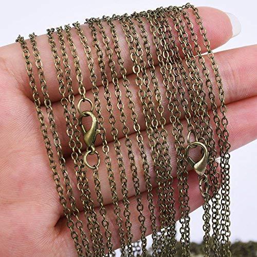 18 inch Length Chain Necklace-2.0x2.5mm link size-20pcs/lot (Antique Bronze)