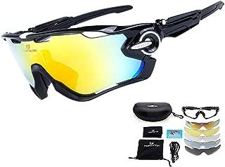 Gafas de Sol Deportivas polarizadas Protección UV400 Gafas de Ciclismo Lentes Intercambiables para Ciclismo, béisbol, Pesca, esquí, Carreras