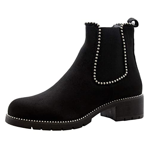 new product professional sale the best attitude Womens Black Studded Boots: Amazon.co.uk
