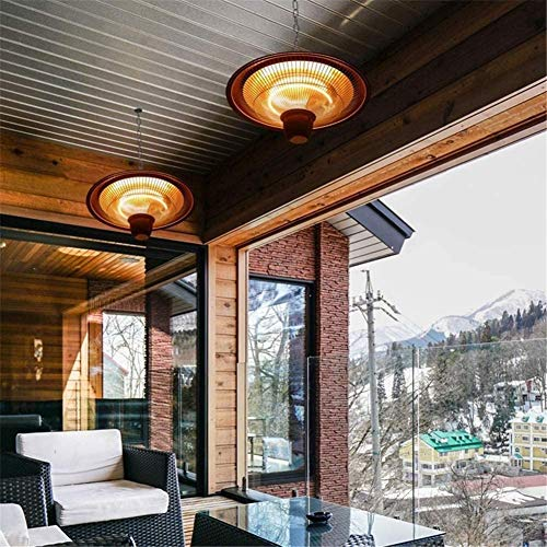 RENXR Electric Ceiling Mounted Patio Heater, Outdoor Patio Heater 2000W Infrared Halogen Tube Outdoor Garden Ceiling Mounted Heater