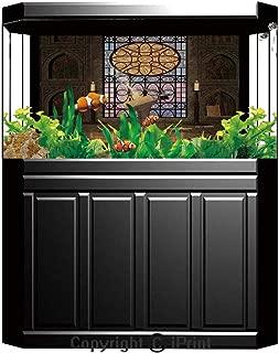 Aquarium Fish Tank Background,Gothic,Gentle Spring Season Inspired Pattern Monochrome Design Retro Romantic Wedding,Black White,Decor Paper Green Water Grass Aquatic Style Like Real,W24.02