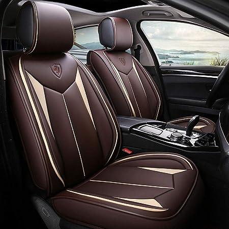 Yangd Sitzbezüge Leder Universal Autositzbezüge Set Wasserdicht Vordersitze Und Rückbank Komplettset For Auto Zubehör Innenraum Color Brown Auto