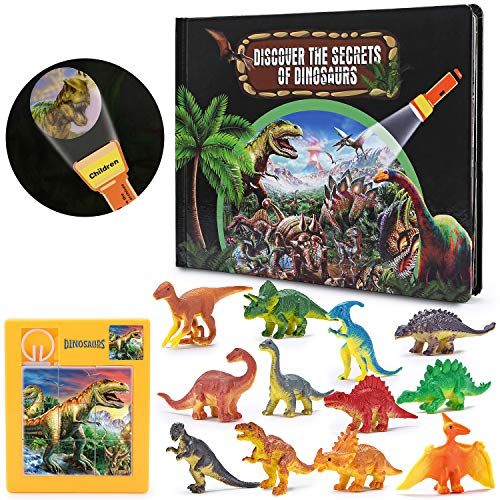 Boys Toys Age 3-12, Dinosaur Exploration Book for Kids Boys Cool Toys for 3-12 Year Old Boys Gifts for 3-10 Year Old Boys Xmas Stocking Stuffers Fillers Birthday Gifts Toys for Boys Kids Toddlers