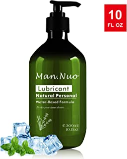 Natural Personal 10oz Lubricant for Women Men Couple, Water-Based Lube Super Slick Long Lasting,Premium Lubricant
