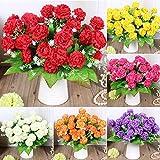 Pinkdose 2018 Rose Soie Faux Bouquet de Fleurs artificielles Mariage Party Floral Home Decor Lot: Orange