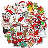 Gift Stickers for Water Bottles 50 Pack Christmas ,Waterproof Vinyl Stickers for Teens, Boys Girls Perfect for Laptop, Luggage, Skateboard, Motorcycle, Bicycle Decal Graffiti Patches (Christmas)