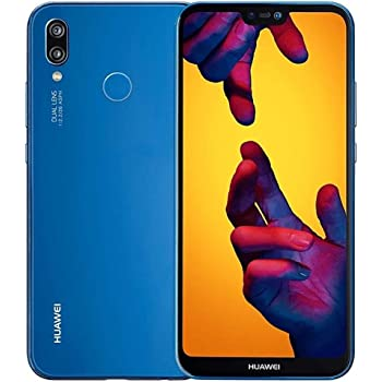"HUAWEI P20 Lite (32GB + 4GB RAM) 5.84"" FHD+ Display, 4G LTE Dual SIM GSM Factory Unlocked Smartphone ANE-LX3 - International Model - No Warranty (Klein Blue)"