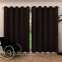 Homely Crush Pain Curtains (Black, Door - 7 Ft)